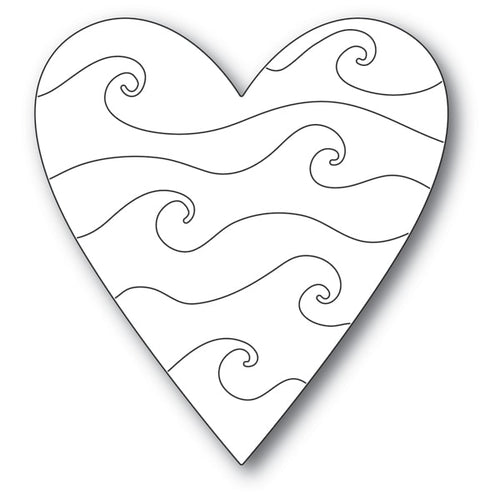 Wavy Heart craft die