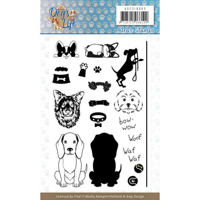 Find It Trading - Amy Design Clear Stamp - Dog's Life