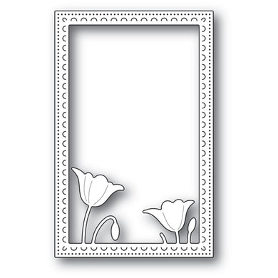 Garden Poppy Stitched Frame craft die