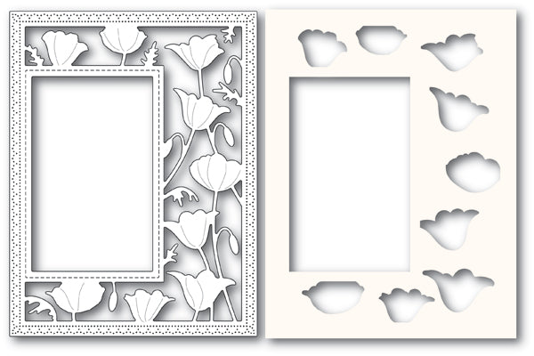 Garden Poppy Sidekick Frame and Stencil Combo