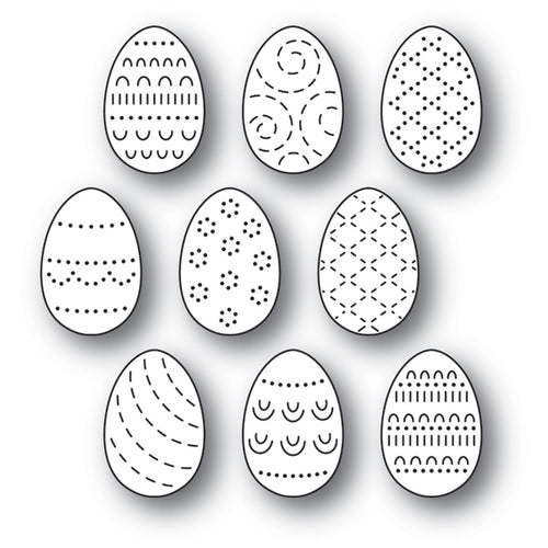 Folk Decorated Eggs craft die