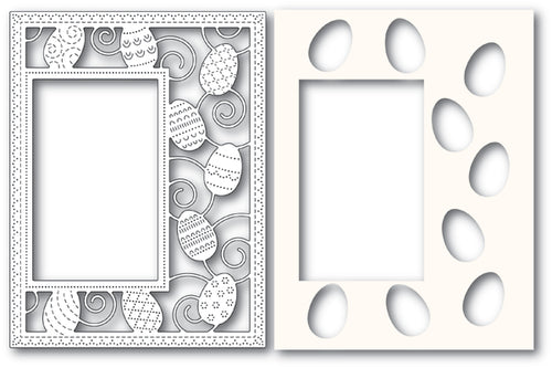 Decorated Egg Sidekick Frame and Stencil Combo