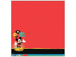 EK 12 x 12 in. Paper Disney Mickey Mouse Glitter Thermography