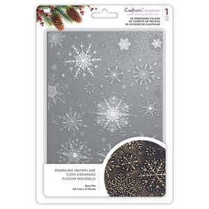 Sparkling Snowflake 3D Embossing Folder  - 5X7""