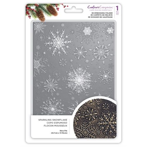 Sparkling Snowflake 3D Embossing Folder  - 5X7