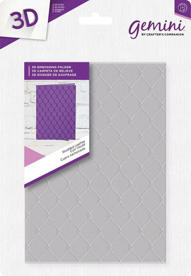 Crafter's Companion Gemini 3D Embossing Folder - Studded Leather