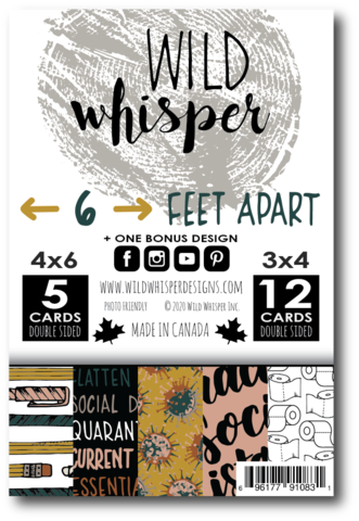 6 FEET APART - SINGLE CARD PACK, PREORDER NOW, Arriving in two weeks