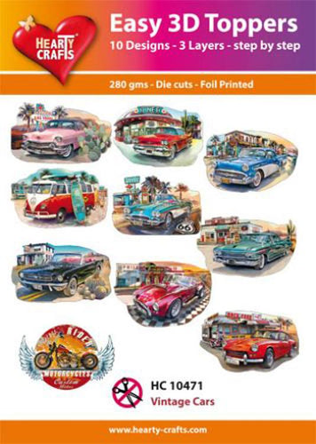 Hearty Crafts Easy 3d Toppers Vintage Cars