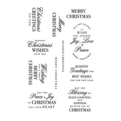 Christmas Greetings Clear Stamp