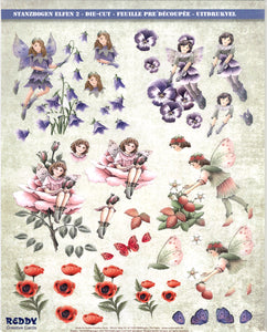 Reddy Die Cut 3D Sheet - Purple/Pink Fairies