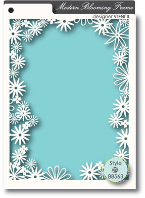 Blooming Frame stencil