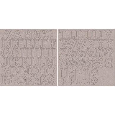 Chipboard Alphabet - DISCONTINUED, while supplies last