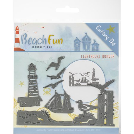 Find It Trading - Jeanine's Art Beach Fun Die-Lighthouse Border