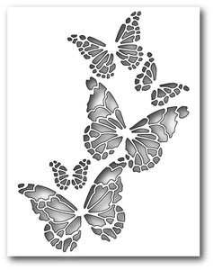 Reverse Butterfly Collage craft dies