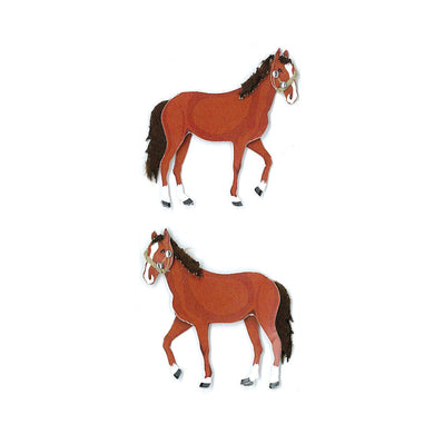 Dimensional Stickers, Horses