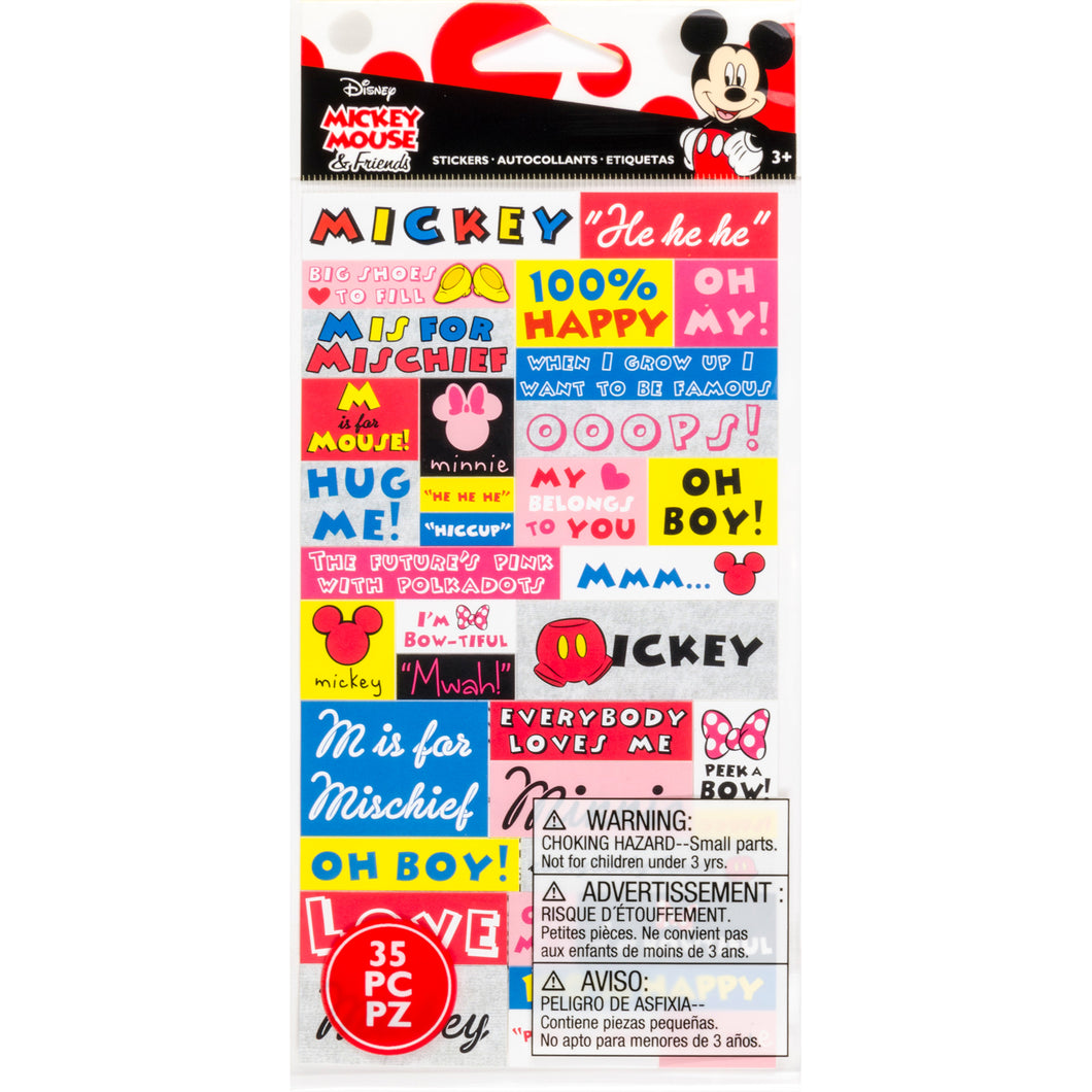 Stickers, Mickey & Minnie - Phrases