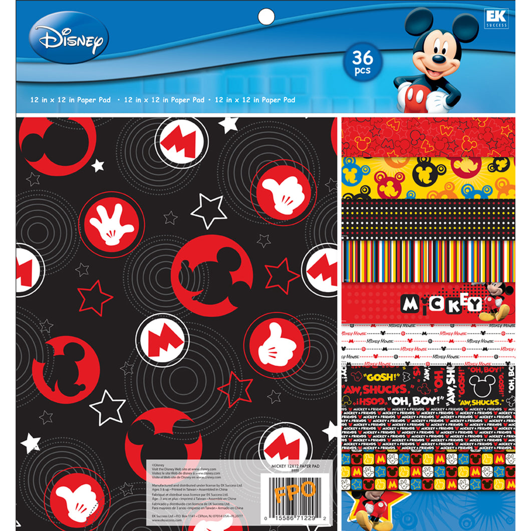 EK Success - Disney - Mickey Mouse Collection - 12 x 12 Paper Pad