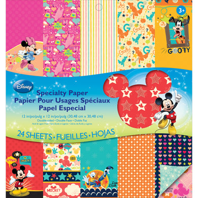 EK Success - 12X12 Paper Pad, Double-Sided - Specialty - Mickey Family