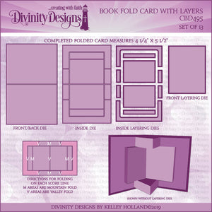 BOOK FOLD CARD WITH LAYERS DIE