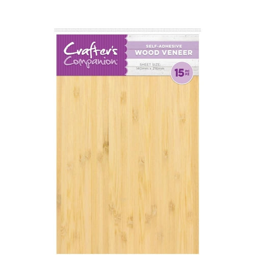 Wood Veneer Sheets w/Adhesive Back 15pk