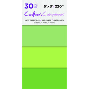 6X3 Matte Cardstock Pack, Holly Greens