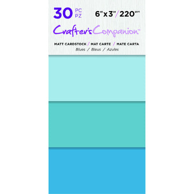 6X3 Matte Cardstock Pack, Blues