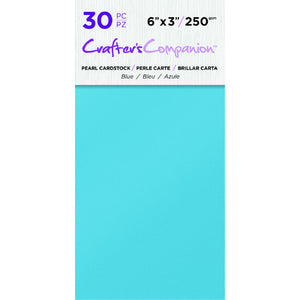 6X3 Pearl Cardstock Pack, Blue