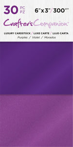 6X3 Luxury Cardstock Pack, Purple