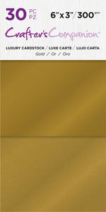 6X3 Luxury Cardstock Pack, Gold