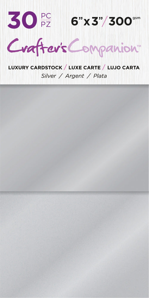 6X3 Luxury Cardstock Pack, Silver