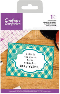 Clear Stamp, Quirky Sentiments - Stay Weird