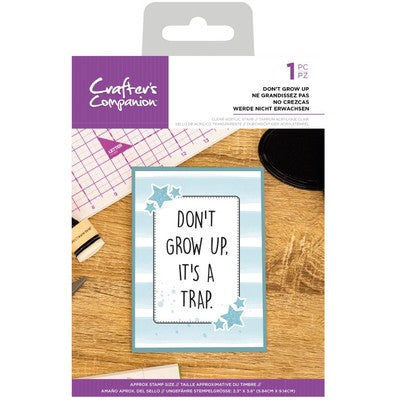 Clear Stamp, Quirky Sentiments - Don't Grow Up
