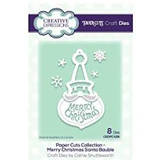 Creative Expressions Die Paper Cuts Collection - Merry Christmas Santa Bauble