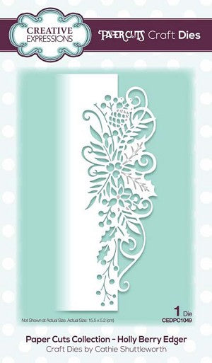 Paper Cuts Collection Hollyhock Edger Craft Die