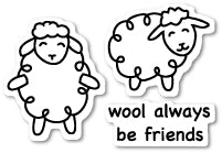 Wool Be Friends clear stamp set