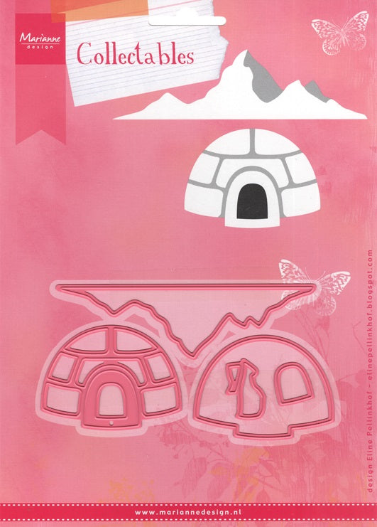Marianne Design: Collectables Die Set - Eline's Igloo and Mountain - Christmas