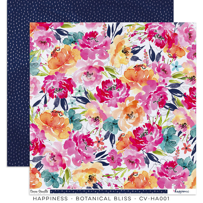 Happiness 12x12 Paper - Botanical Bliss - DISCONTINUED Limited Stock