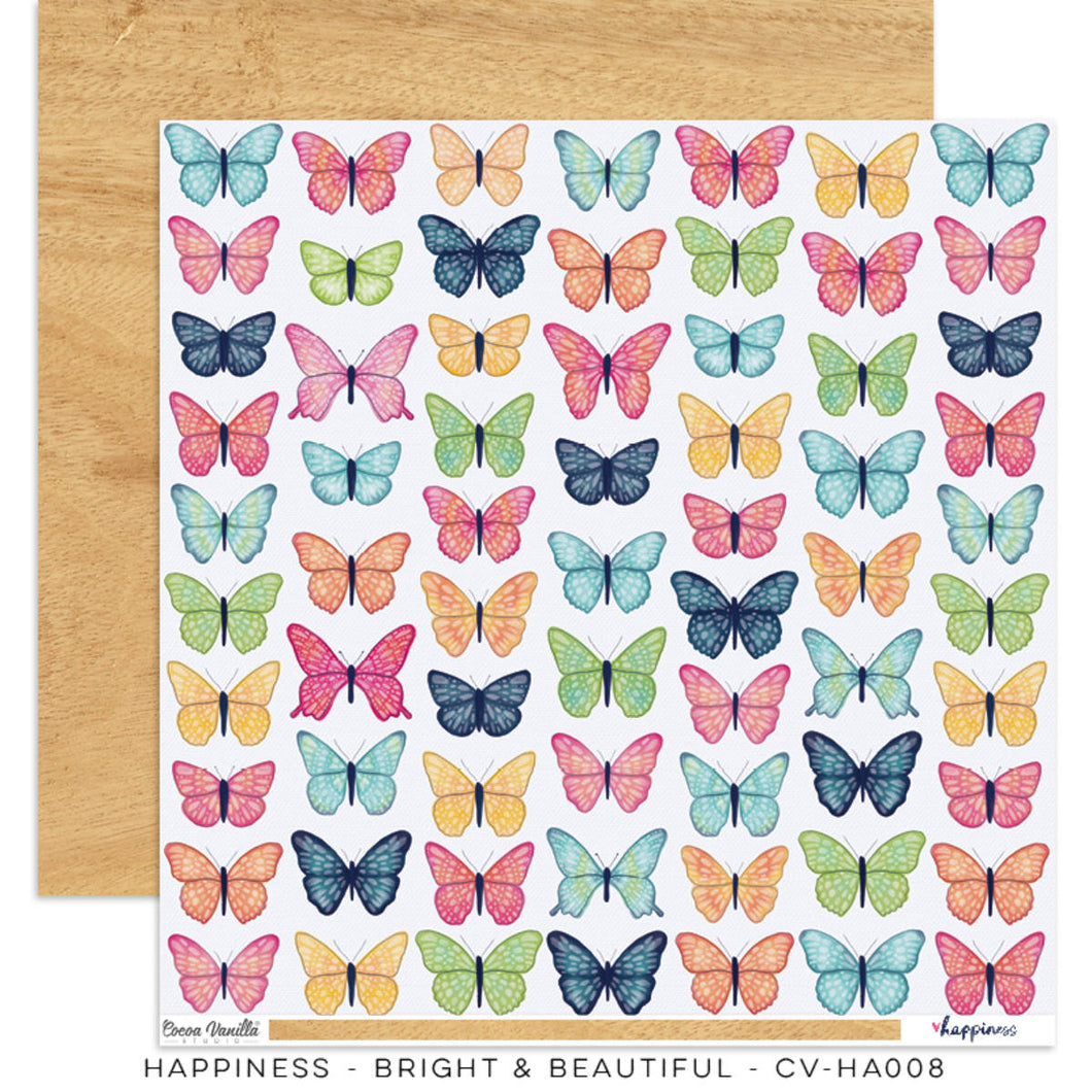 Happiness 12x12 Paper - Bright & Beautiful  DISCONTINUED Limited Stock