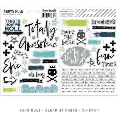 BOYS RULE CLEAR STICKERS