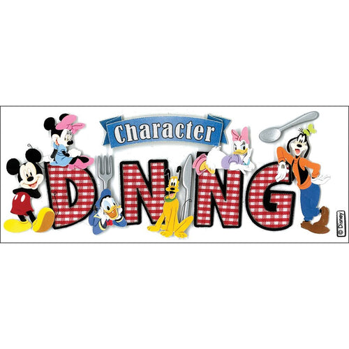 Dimensional Stickers, Title - Disney Character - Dining