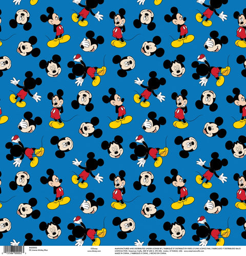 EK Success - Disney Collection - 12 x 12 Single Sided Paper - Mickey Blue