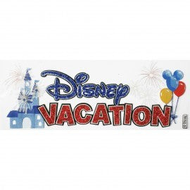 Dimensional Stickers, Title - Disney Vacation (Glitter)