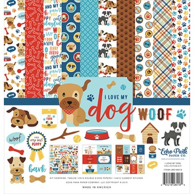Echo Park - I Love My Dog Collection - 12 x 12 Collection Kit
