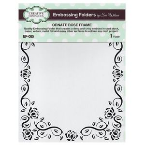 Creative Expressions Embossing Folder 5 3/4 x 7 1/2 Ornate Rose Frame