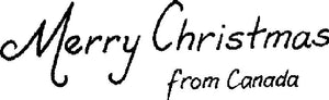 "Cling Stamp - ""Merry Christmas from Canada"""