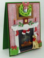 Frantic Stamper Precision Die - Fireplace - Christmas