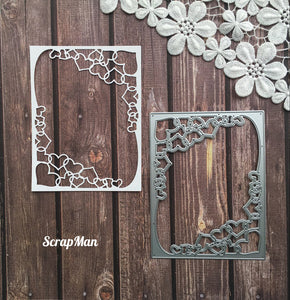 Rectangular frame with Hearts