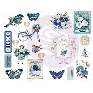 "Georgia Blues Chipboard Stickers 5""X8"" 2/Pkg"