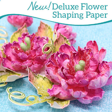 12X12 Deluxe Flower Shaping Paper, White