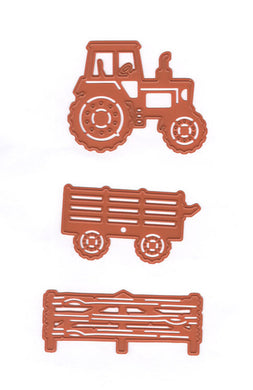 Cut-Emboss Die - At the farm - Tractor